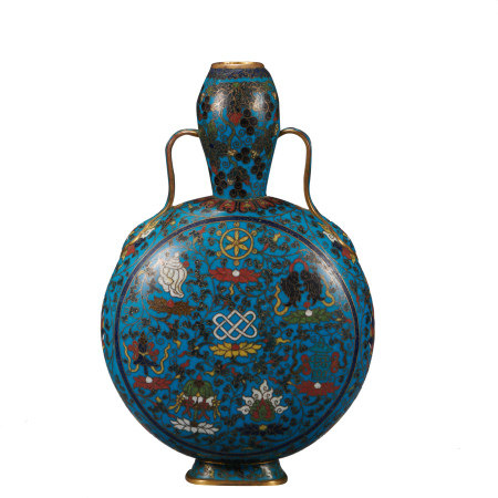 CHINESE CLOISONNE POT, MING DYNASTY