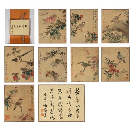 Chinese Calligraphy and Painting Album 'Birds and Flowers''