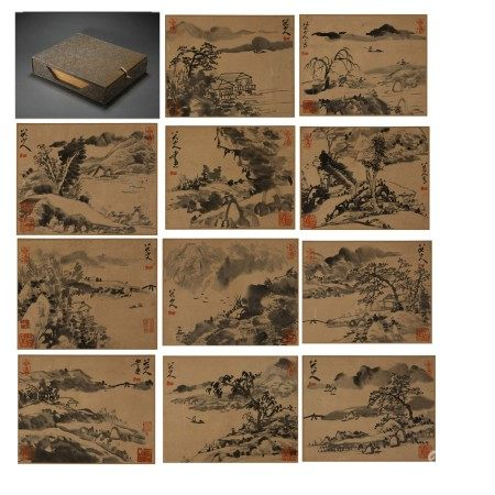 Chinese Calligraphy and Painting Album 'Twenty-Four Filial Piety pictures', Li Gonglin