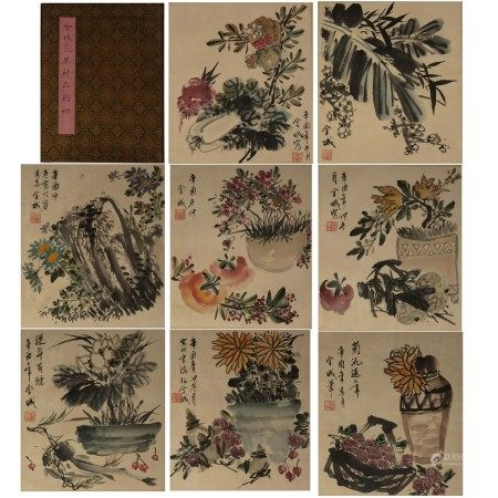 Chinese Calligraphy and Painting Album 'Still life', Jin cheng