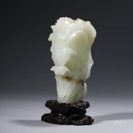 A CHINESE WHITE JADE CABBAGE