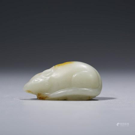A CHINESE WHITE JADE RAT