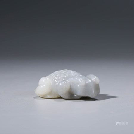 A CHINESE WHITE JADE TOAD