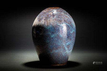 葛明祥造 紫砂 海鼠釉 壷