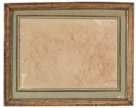 École française XVIIIe dans le goût de François BOUCHER (1703-1770).  - Vénus et [...]
