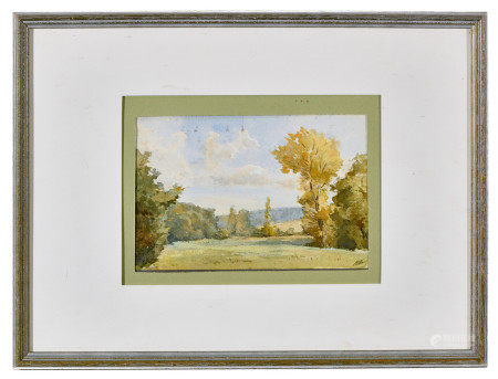 Karl André Jean REILLE (1886-1974/75).  - Vue de Parc.  - Aquarelle signée en bas [...]