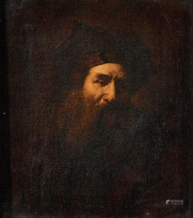 École hollandaise XIXe dans le goût de REMBRANDT (1606-1669).   - Portrait [...]