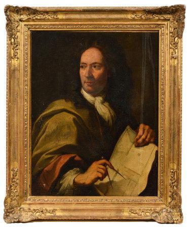École française vers 1730, entourage de Jean JOUVENET (1644-1717).  - Portrait d' [...]