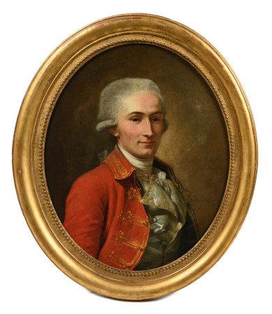 Pierre COGELL (1734-1812).  - Portrait de Maréchal de camp.   - Huile sur toile [...]
