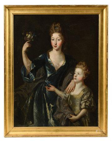 LEROY (actif fin XVIIe).   - Portrait de Marie-Thérèse Delphine d'Allègre, [...]