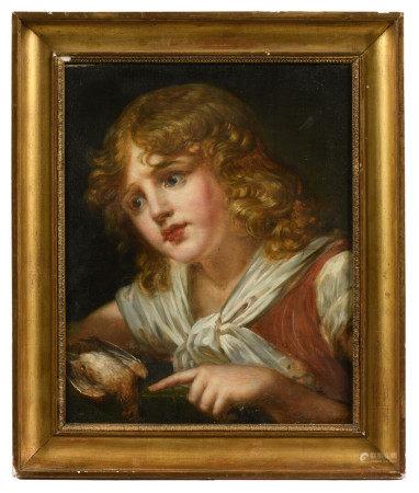 École française XIXe, suiveur de Jean-Baptiste GREUZE (1725-1805).  - Jeune garçon [...]
