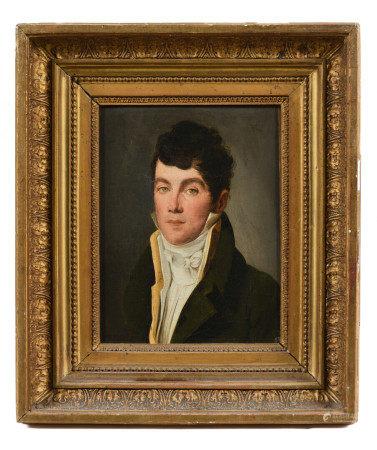 Attribué à Louis Léopold BOILLY (1761-1845).  - Portrait d'homme à la redingote [...]