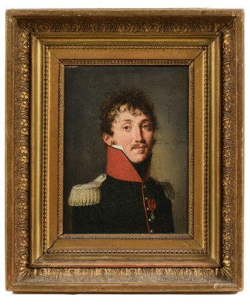Louis Léopold BOILLY (1761-1845).  - Portrait d'officier.  - Huile sur toile.  - 22 [...]