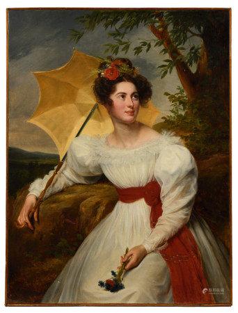 École Française XIXe.   - Portrait de Virginie LUPIN, femme du préfet Achille [...]
