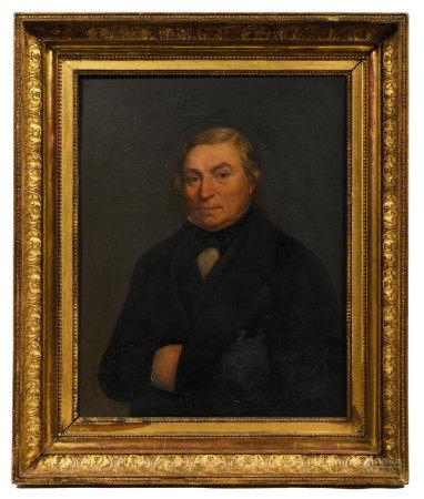 École française XIXe.  - Portrait d'homme.  - Huile sur toile portant une signature [...]