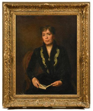 Marc Terence MULLER (1865-?).  - Portraits d'un couple.  - Paire d'huiles sur toile [...]