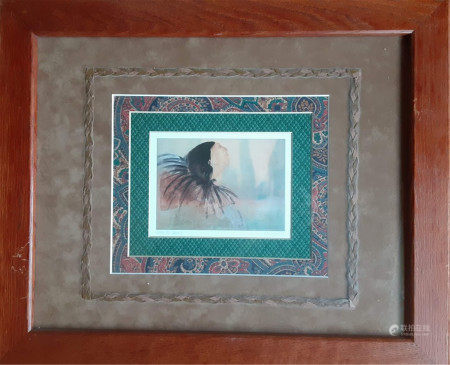 TWO NATIVE AMERICAN PRINTS HAND SIGNED BY ANNA HAWTHORNE