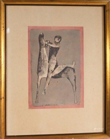 MAZILO 1953 MID-CENTURY MODERN ART