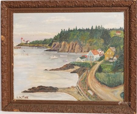 OIL PAINTING OF LANDSCAPE LW TIDD