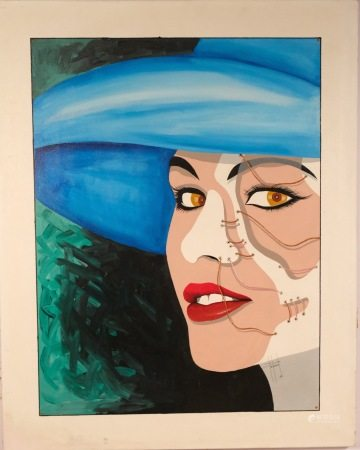 OIL PAINTING ON CANVAS PHANTOM OF THE OPERA WOMAN