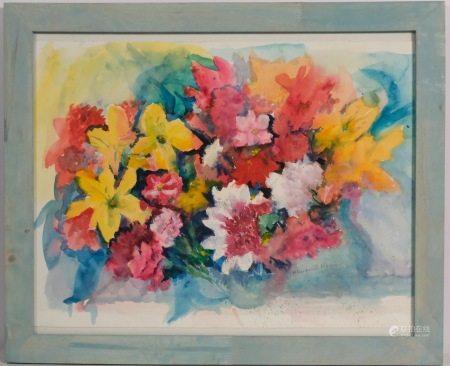 WATERCOLOR OF FLOWERS  BY H. MARGARET MOORE