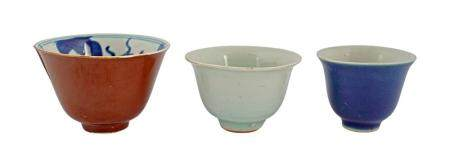 3 SMALL CHINESE QING BOWLS