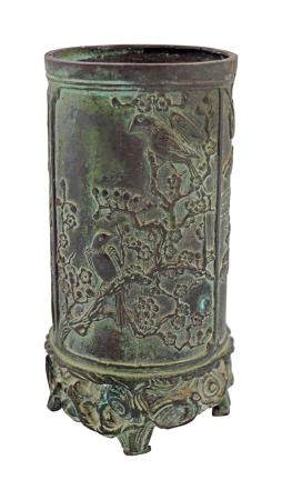 CHINESE ARCHAISTIC BRONZE BRUSH POT