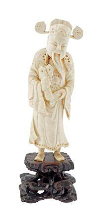 19TH-CENTURY CHINESE IVORY FIGURE