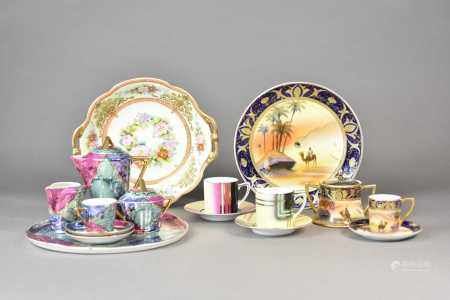 A large collection of Noritake porcelain, to include two Art Deco coffee cans and saucers, an Art