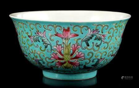Porcelain bowl with polychrome decoration
