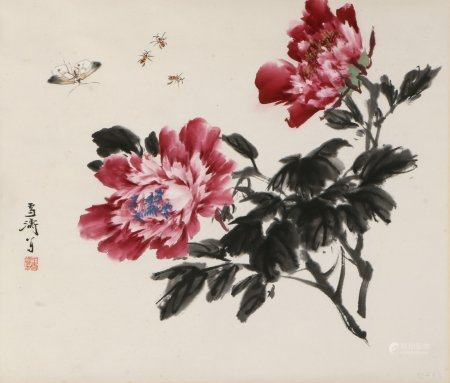chinese painting of flower by wang xuetao
