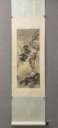 chinese silk painting by pu ru in modern times