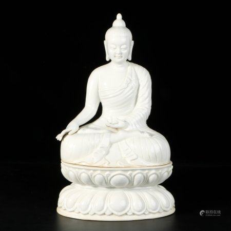 chinese white glazed porcelain buddha