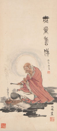 chinese painting of arhat by qian huafo