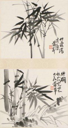 chinese ink painting of bamboo by pu hua
