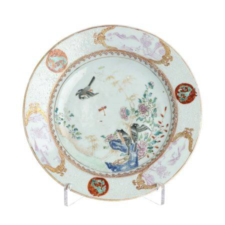 Chinese porcelain plate 'bird among flowers', Qian