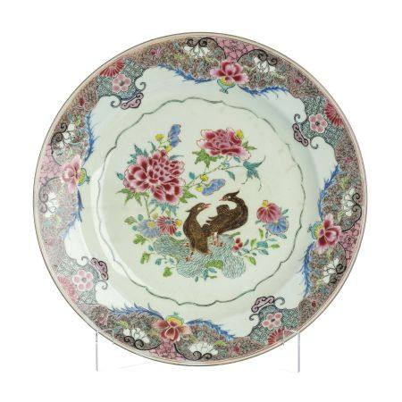 Chinese porcelain 'ducks' large plate, Yongzheng