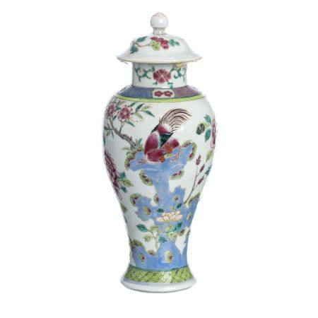 Chinese famille rose porcelain pot, Yongzheng