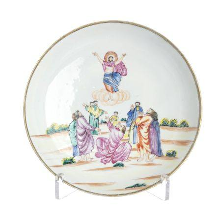 Chinese Export European subject plate, 'apparition