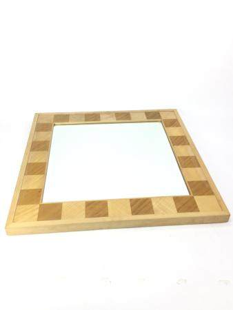 A SQUARE WALL MIRROR BY DAVID LINLEY