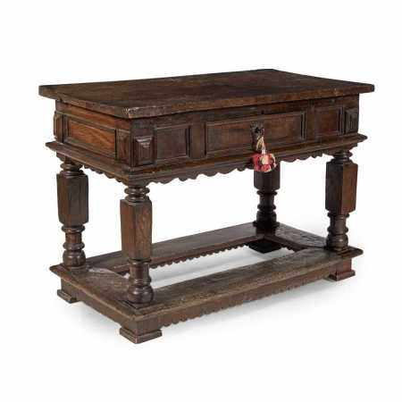 OAK SIDE TABLE EARLY 17TH CENTURY