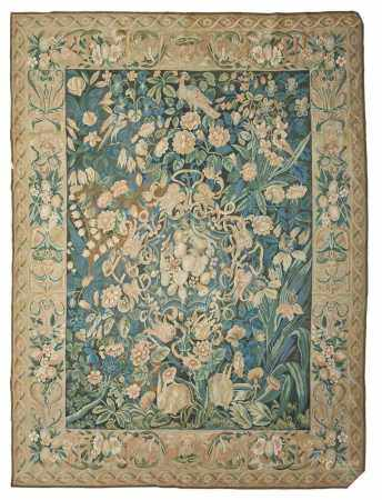 AUBUSSON STYLE CARPET LATE 20TH CENTURY