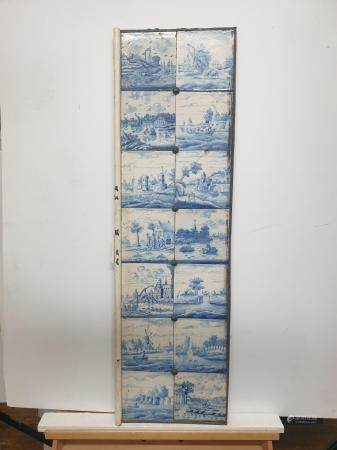 GROUP OF TWENTY EIGHT DELFT TILES 18TH CENTURY