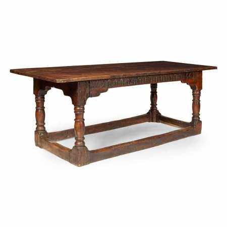 OAK 17TH CENTURY STYLE REFECTORY TABLE 20TH CENTURY