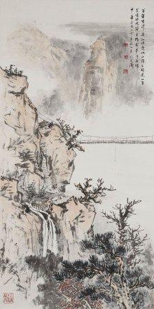 刘延涛(1908-1998) 山月吊桥