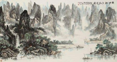 叶向慈(1952年生) 绝妙漓江秋泛图