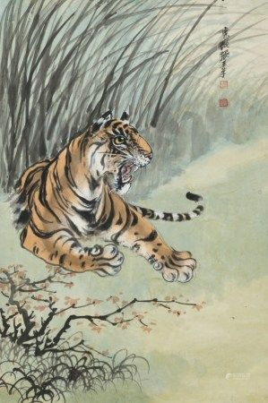 张善孖(1882-1940) 老虎