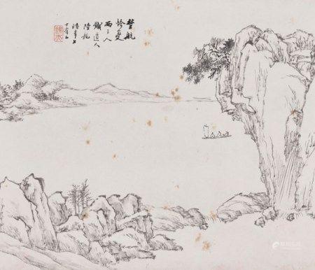 陆龙(1865-?) 山水