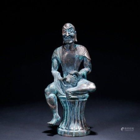 银制罗汉像