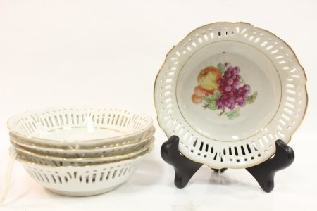 Five Porcelain Plate Made in Germany